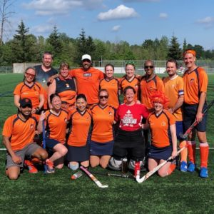 Jokers field hockey at a social tournament in Vancouver