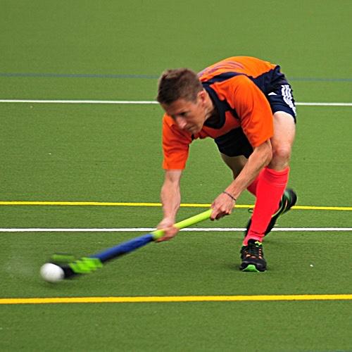 High performance field hockey player