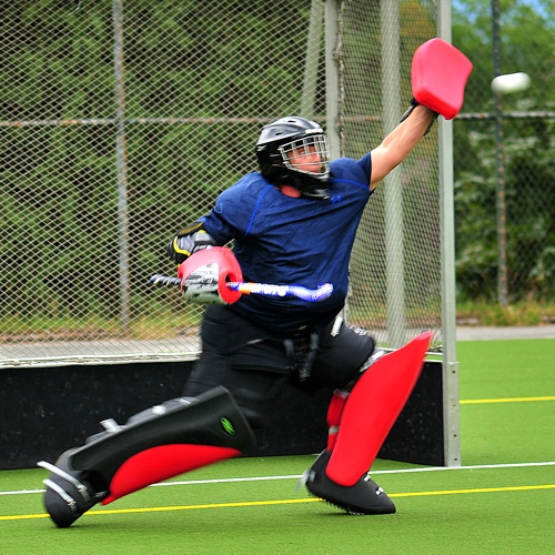 High performance field hockey goalie